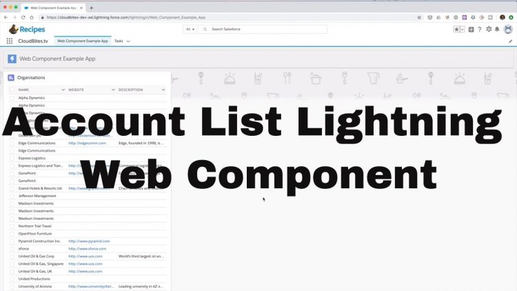 49. Lightning Web Component Series – Account List Component