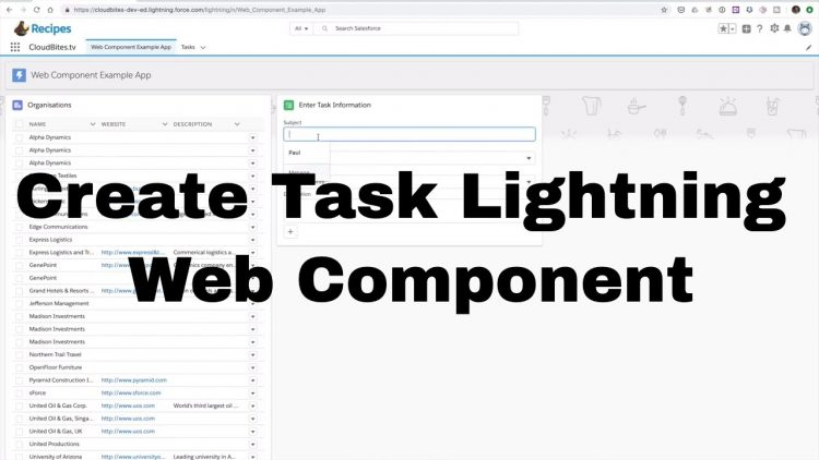 50. Lightning Web Component Series – Create Task Component