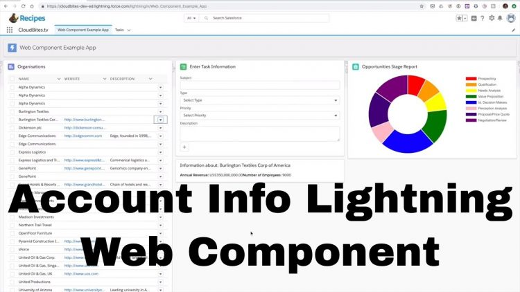 52. Lightning Web Component Series – Account Info Component