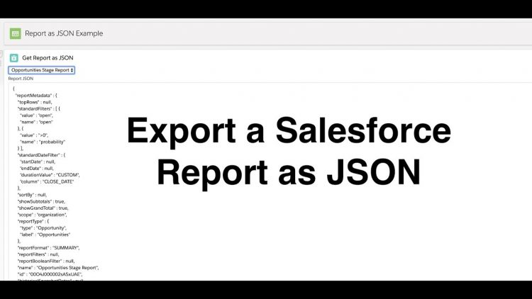 56. Export a Salesforce Report as JSON